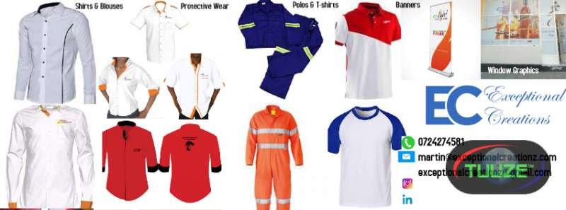 Corporate Branded Shirts Blouses Polos Overalls