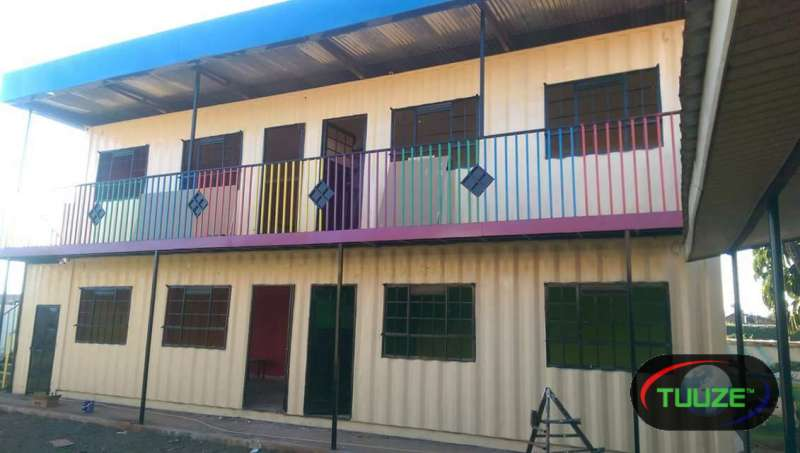 40ft containers  CONVERTED INTO SCHOOLS