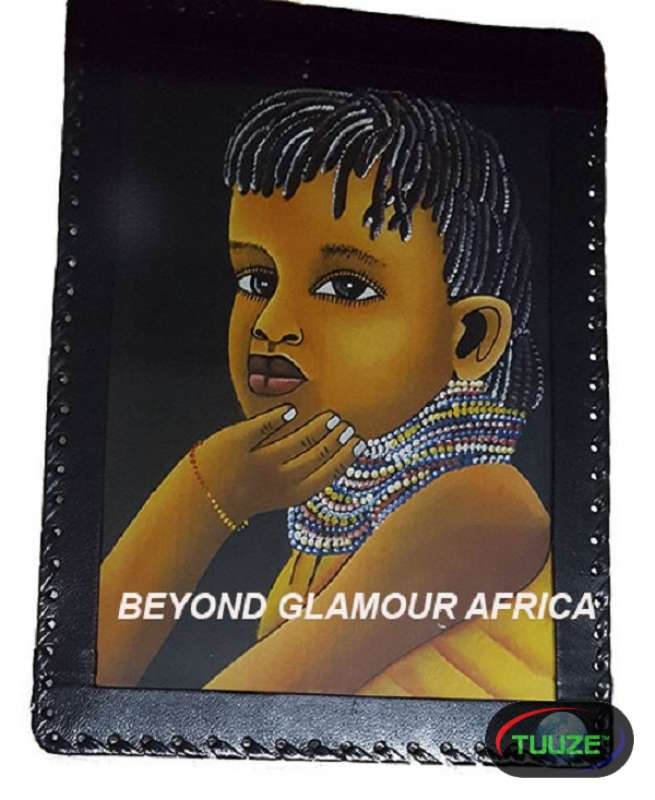 African Child Leather Bound Wall Art
