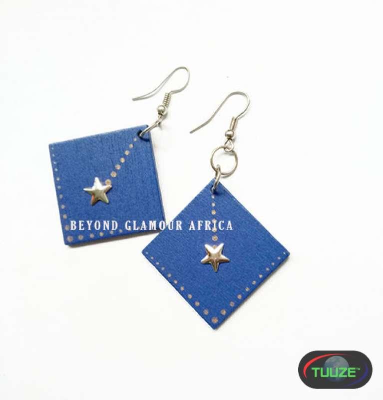 Blue african earrings