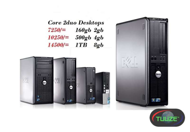 CPU ONLY Desktops Core 2duo or Duo core processors