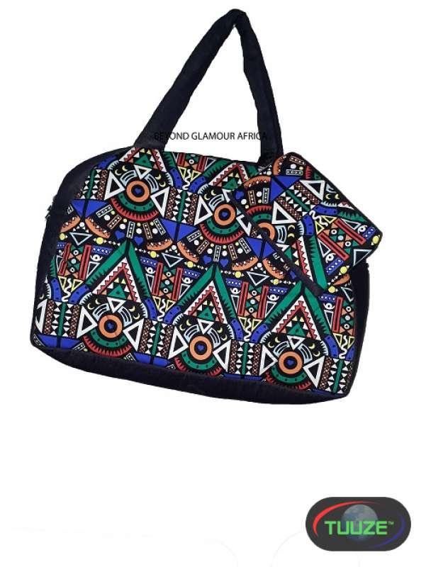 Denim Ankara Travelling Bag