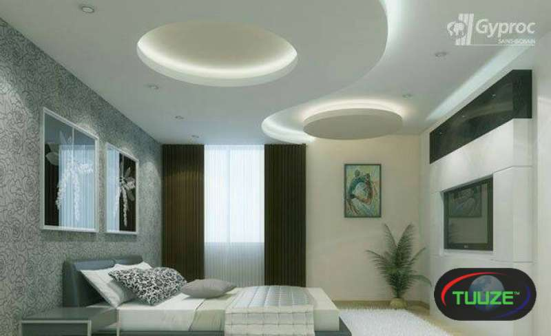 Gypsum ceiling  gypsum wall TV unit modern designs