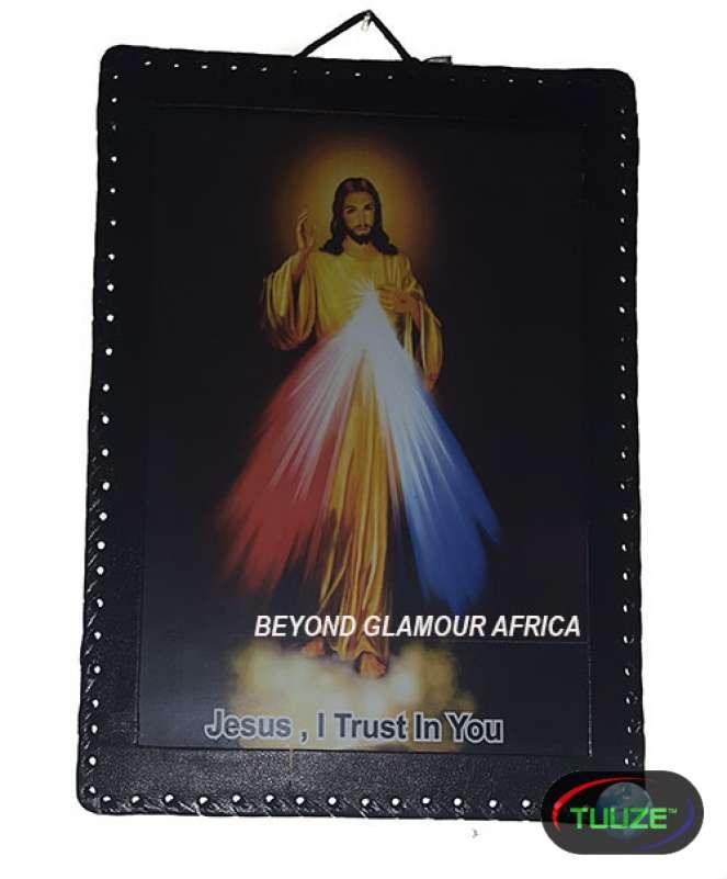Jesus leather bound Wall Art