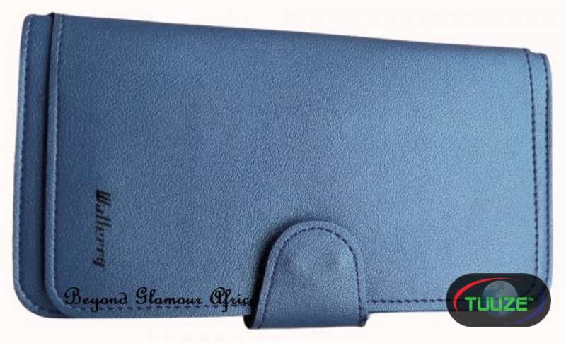 Ladies Blue Large Leather wallet