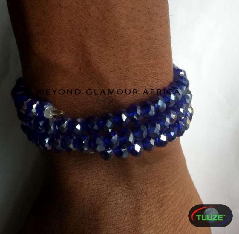 Ladies Blue spiral crystal bracelet