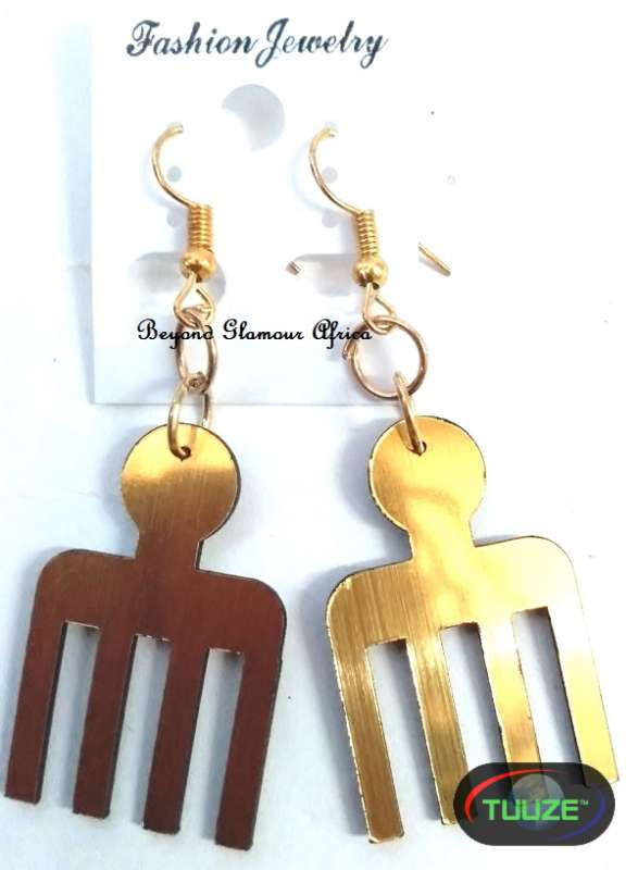Ladies Comb Brass Earrings