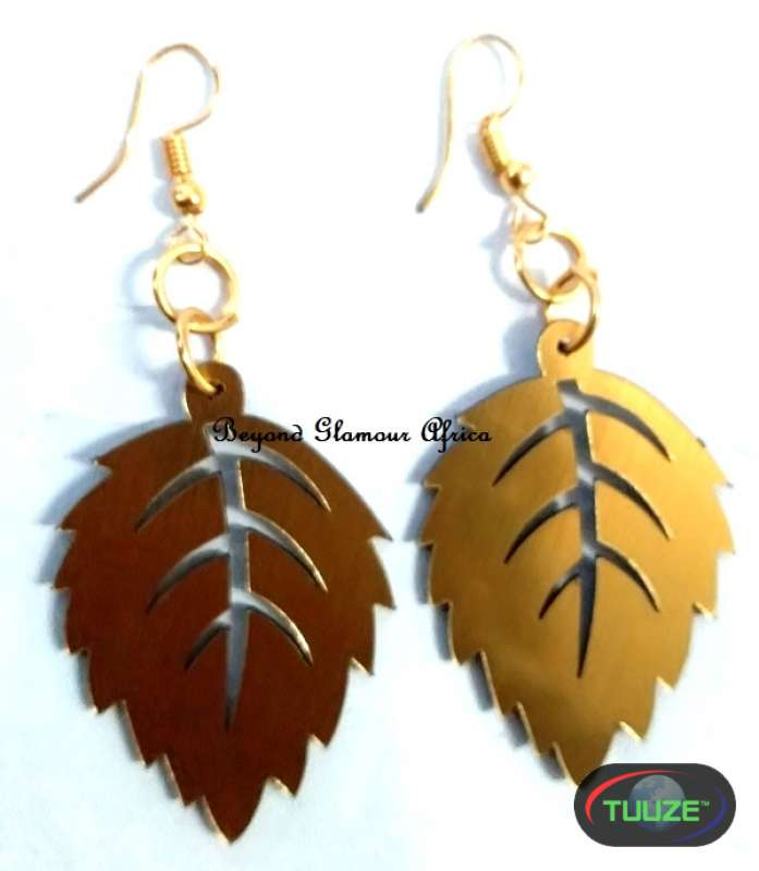 Ladies Leaf Brass Earrings