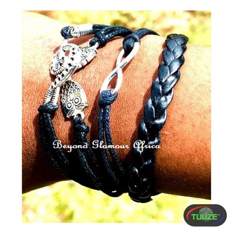 Leather Black Multilayer bracelet