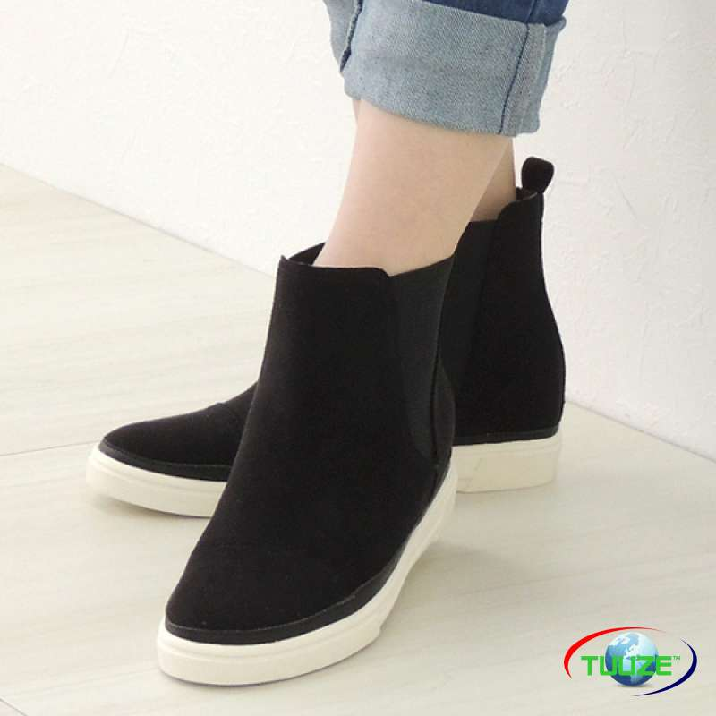 Slip on rubber ankle boots