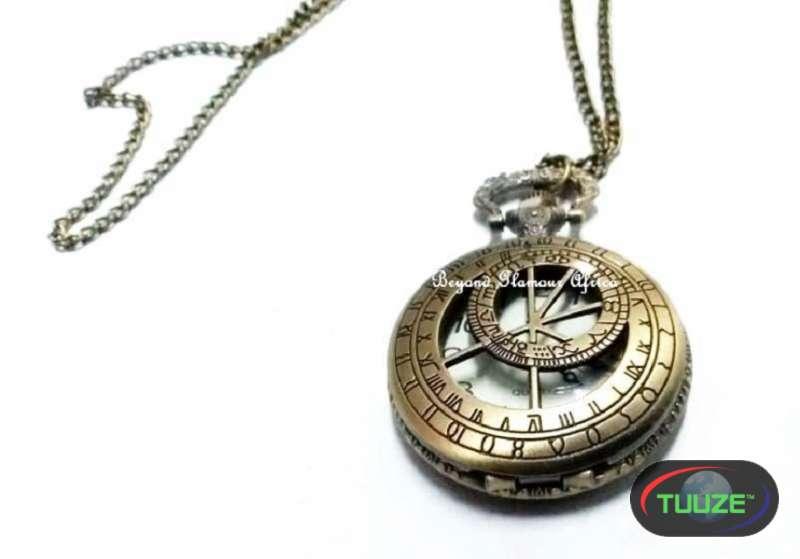 Unisex Brass Compass Pocket watch