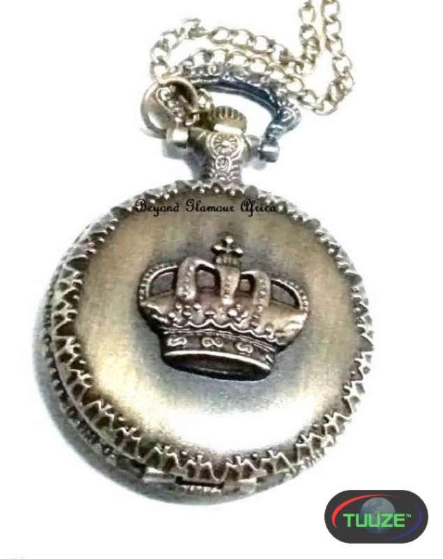 Unisex Brass Crown Pocket watch