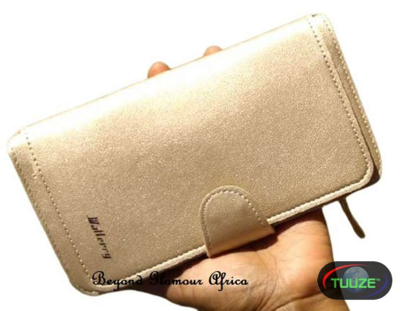 Womens Golden  Large leather wallet
