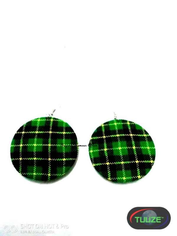 Womens Green maasai shuka earrings