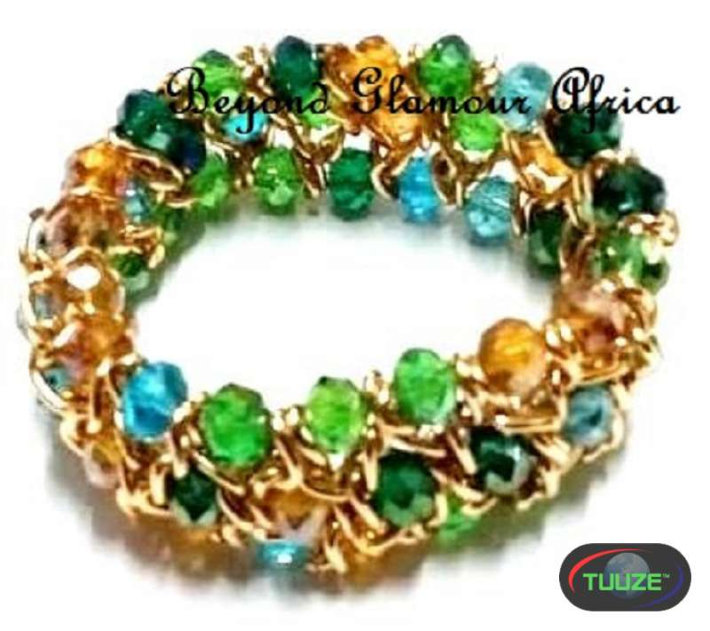 Womens multi color Crystal Chain Bracelet