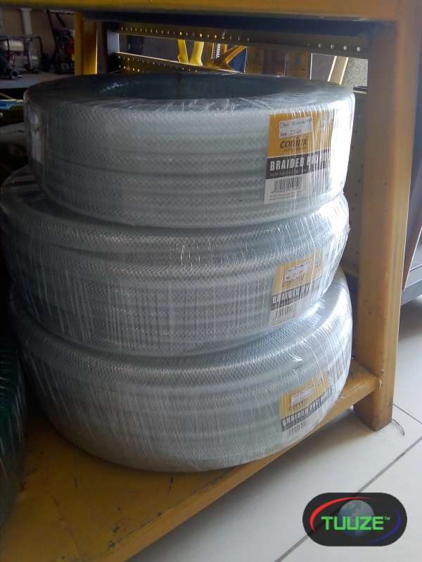 clear braided pvc water hose
