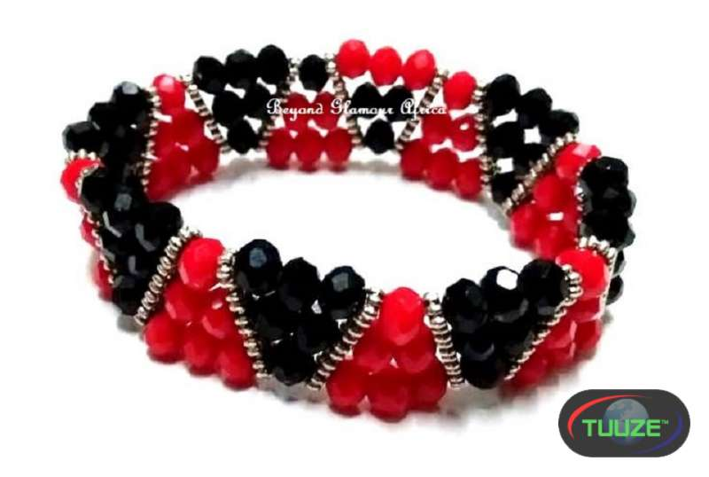 omens Black Red Crystal Bracelet